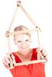 junge Frau mit Haussymbol