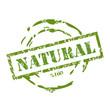 Natural symbol rubber stamp.