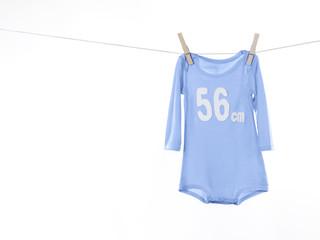 Babystrampler blau