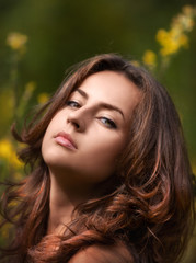 Portrait outdoor of a young woman