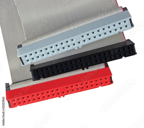 Parallel ATA PATA IDE HDD PC connectors ribbon cables, isolated