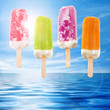 Four popsicles