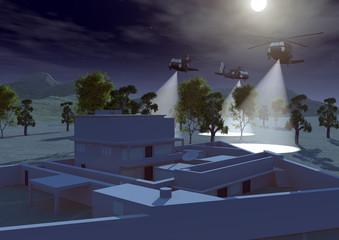 Abitazione Bin Laden Abbottabad Pakistan elicotteri assalto