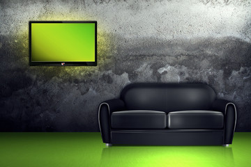 Couch and TV