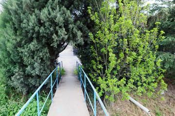 Yaya köprüsü girişi