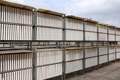plasterboard industrial production drying outdoor