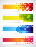 Fototapety Set di banners - Set of four headers with copy space