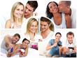 Montage of young couples