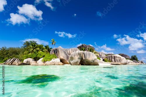 Fototapeten,seychelles,strand,coconut palm,palm tree
