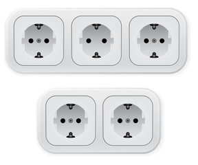 Realistic illustration of different forms outlets