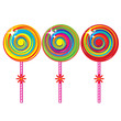 Set of colorful lollipops