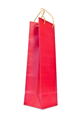 wine red paper bag isolated