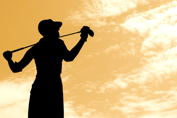 Golf player silhouette 3