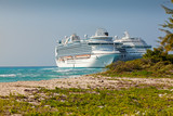 Two Cruise Ships Anchored in Grand Turk, Caicos Islands poster