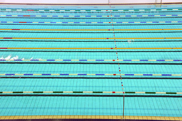 Lane of swimming pool are  limited floats