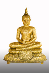thai style buddha statue isolated