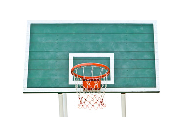 basketball hoop isolated against white background