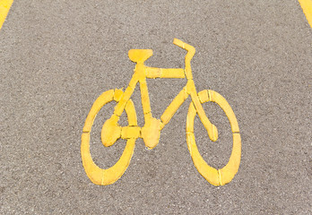 bicycle way sign on the road