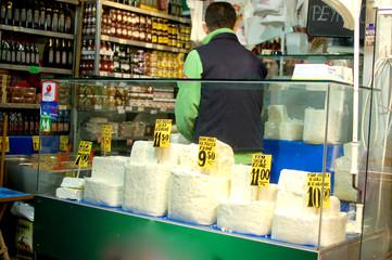 Feta cheese shop in Istanbul