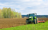 Land plowed at spring