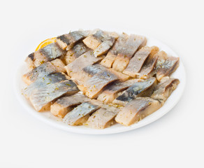 herring pieces in oil