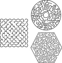 Set of alternative mazes
