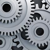 Gear wheels - closeup view