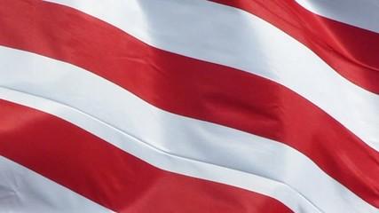 Bandes du drapeau des USA dans le vent