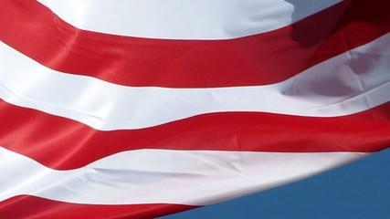 Ondulations au vent du drapeau des USA