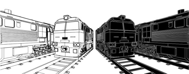 Train Locomotive Vector 04