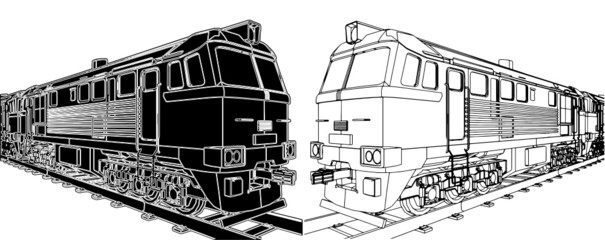 Train Locomotive Vector 03