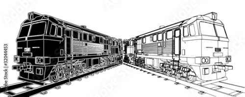 Train Locomotive Vector 02