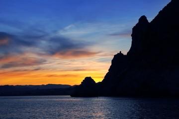 Cape San Antonio Javea Xabia sunset from sea