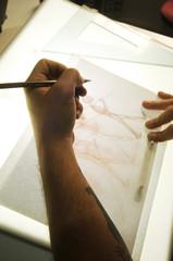 Preparazione di un cartone animato