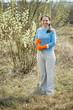full length shot of female gardener