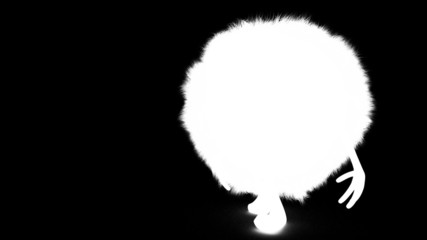 white hairy ball + alpha channel