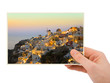 Santorini photography in hand