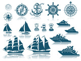 Compass and Sailing ships iconset