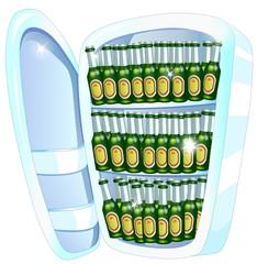 refrigerator full of beers
