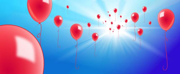 luftballons gen himmel