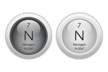 Nitrogen - two glossy web buttons