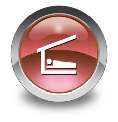 """Red Glossy Pictogram """"Sleeping Shelter"""""""