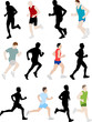 runners - vector illustration