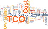 Total cost of ownership background concept poster