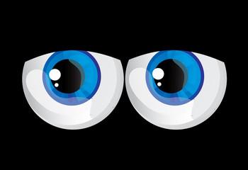 goggle-eyed