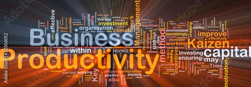 Business productivity background concept glowing