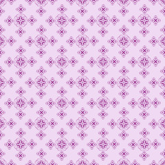 Deep Purple On Light Purple Damask Seamless Pattern