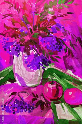 Obraz na Szkle STILL-LIFE FLOWERS