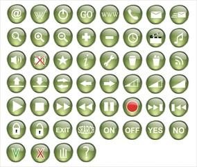 botones informática pack verde