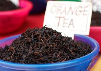 Orange tea at Indian street market.